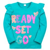 """11-371201 """"READY"""" Джемпер для девочки, 3-7 лет, ментоловый"""