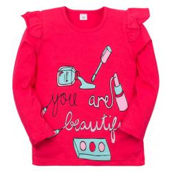 """11-371202 """"BEAUTY"""" Джемпер для девочки, 3-7 лет, красный"""
