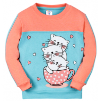 """11-3712071 """"Lovely cat"""" Джемпер для девочки, 3-7 лет"""