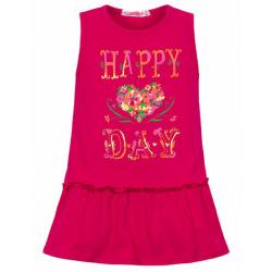 11-37415 Сарафан для девочки, 3-7 лет, малиновый