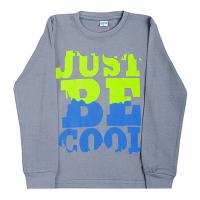 """11-581106 """"Just be Cool"""" джемпер, интерлок, 5-8 лет, стальной"""
