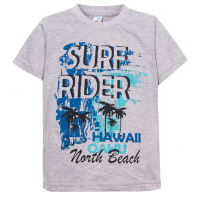 """11-580101 """"Surf Rider"""" Футболка для мальчика, 6-9 лет, меланж"""