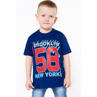 """11-580104 """"58"""" Футболка для мальчика, 6-9 лет, т-синий"""