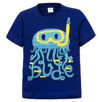 """11-140161 """"Diving"""" Футболка для мальчика, 2-5 лет, т-синий"""