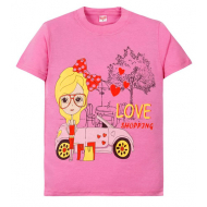 11-580201 Футболка для девочек, 5-8 лет, розовый