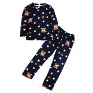 11-588153 Пижама для мальчика, велсофт, 5-8 лет