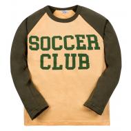 """11-581107 """"Soccer Club"""" лонгслив для мальчика, 5-8 лет, бежевый"""