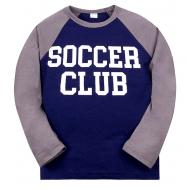 "11-581108 ""Soccer Club"" лонгслив для мальчика, 5-8 лет, синий"