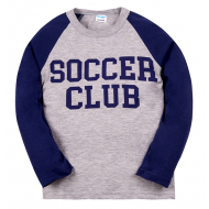 "11-581109 ""Soccer Club"" лонгслив для мальчика, 5-8 лет, меланж"