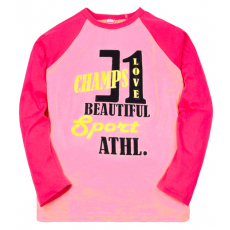 """11-581135 """"Champs"""" Лонгслив для девочки, 5-8 лет, cd-розовый"""