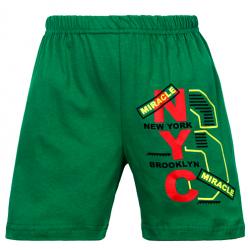"""11-581403 """"NYC"""" Шорты для мальчиков, 5-8 лет, зеленый"""