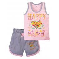 "11-582200 ""Happy DAY"" комплект летний для девочки, 5-8 лет"