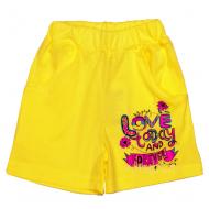 "11-582404 ""Love"" Шорты для девочек, 5-8 лет, желтый"