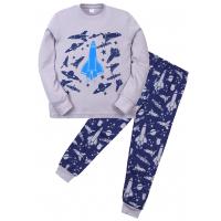 """11-588102 """"Air force"""" Пижама для мальчика, 5-8 лет, серый"""