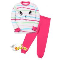 """11-588251 """"Beautiful"""" Пижама для девочки, 5-8 лет, малиновый"""