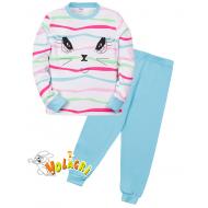 """11-588253 """"Beautiful"""" Пижама для девочки, 5-8 лет, бирюзовый"""