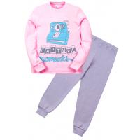 """11-588256 """"Moments"""" Пижама для девочки, 5-8 лет, розовый\серый"""