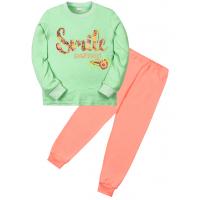 """11-588257 """"Smile"""" Пижама для девочки, 5-8 лет, ментол\коралловый"""