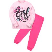 """11-588259 """"Girl"""" Пижама для девочки, 5-8 лет, розовый"""