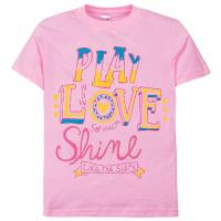 """11-690201 """"Play Love"""" футболка для девочек, 6-9 лет, розовый"""
