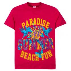 """11-690203 """"Paradise"""" футболка для девочек, 6-9 лет, малиновый"""