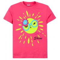 """11-690206 """"Little shine"""" футболка для девочек, 6-9 лет, арбузный"""
