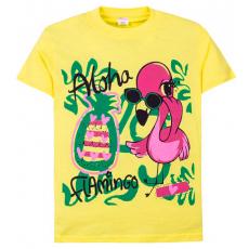 """11-690208 """"Flamingo"""" футболка для девочек, 6-9 лет, желтый"""