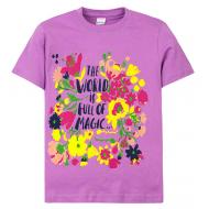 """11-690207 """"World magic"""" футболка для девочек, 6-9 лет, сиреневый"""