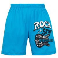 """11-581402 """"ROCK STAR"""" Шорты для мальчиков, 5-8 лет, голубой"""