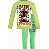 """11-91281041 """"Yong & Strong"""" Комплект для мальчика, интерлок, 9-12 лет, травяной\хаки"""