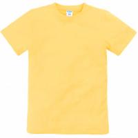 11-9120102 футболка однотонная, 9-12 лет, желтый