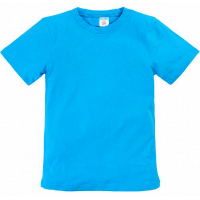 11-9120104 футболка однотонная, 9-12 лет, бирюзовый