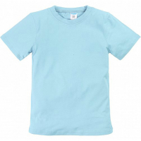 11-9120105 футболка однотонная, 9-12 лет, св-голубой