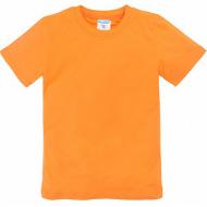 11-9120111 футболка однотонная, 9-12 лет, оранжевый
