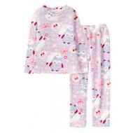 11-9128253 Пижама для девочки, велсофт, 9-12 лет