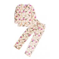 11-9128252 Пижама для девочки, велсофт, 9-12 лет