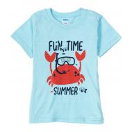 "11-1401298 ""Fun time"" футболка для мальчика, 0,9-4 года, св.бирюза"