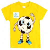 "15-140142 ""Футболист"" Футболка для мальчика, 1-4 года, желтый"