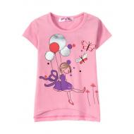 """12-140203 """"Шарики"""" Футболка для девочки, 1-4 года, розовый"""