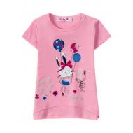 """12-140207 """"Радость"""" Футболка для девочки, 1-4 года, розовый"""