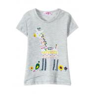 "12-140214 ""Giraffe"" Футболка для девочки, 1-4 года, меланж"