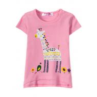 "12-140216 ""Giraffe"" Футболка для девочки, 1-4 года, розовый"