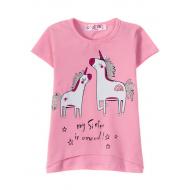 """12-140224 """"Сестрички"""" Футболка для девочки, 1-4 года, розовый"""