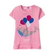 """12-140236 """"Кашалот"""" Футболка для девочки, 1-4 года, розовый"""