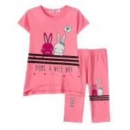 "12-37208-2 ""Nice day"" Комплект футболка-юбка, 3-7 лет, розовый"