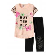 """12-3788-2 """"Butterfly"""" Комплект футболка-бриджи, 3-7 лет, св.розовый"""
