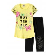 """12-3788-8 """"Butterfly"""" Комплект футболка-бриджи, 3-7 лет, жёлтый"""