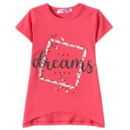 "12-59204-1 ""Dreams"" Футболка для девочки, 5-9 лет, фуксия"