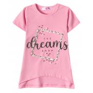 """12-59204-3 """"Dreams"""" Футболка для девочки, 5-9 лет, розовый"""