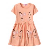 """12-37199-4 """"Sleeping Princess"""" Платье для девочки, 3-7 лет, коралл"""